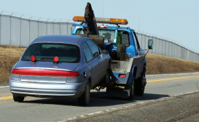 Car towed